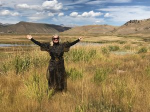 Anne Buresh in the environment in Jackson Hole, Wyoming