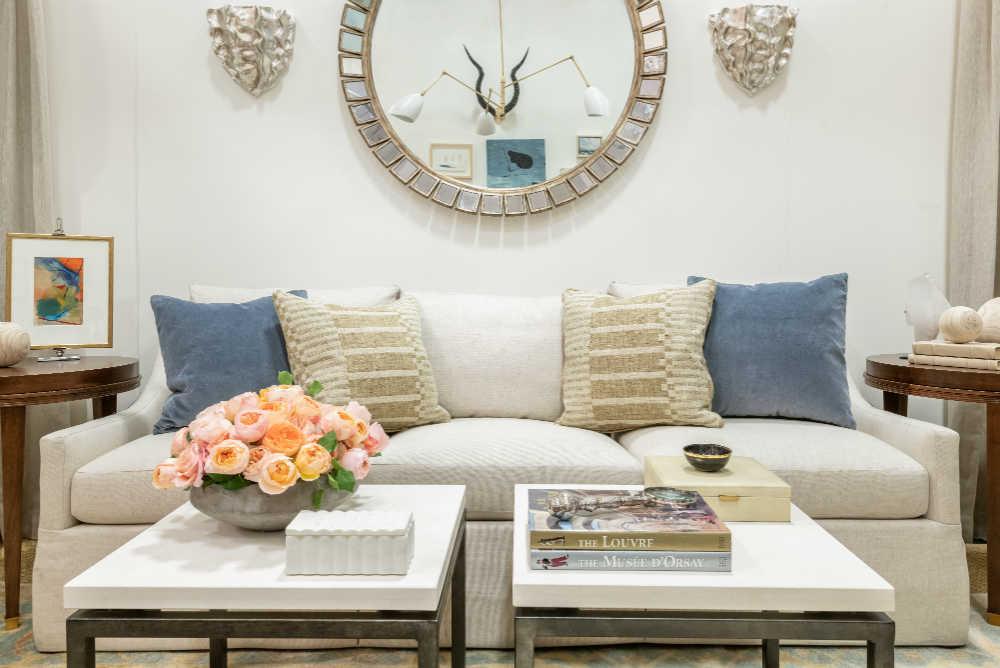 beautiful neutral tone living room interior design